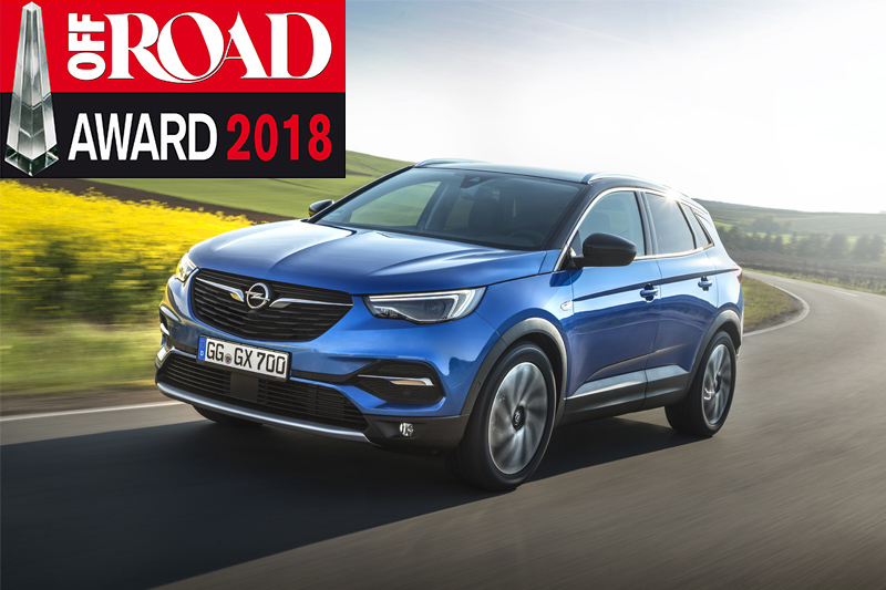 top de sa cat gorie l opel grandland x remporte le prix off road. Black Bedroom Furniture Sets. Home Design Ideas
