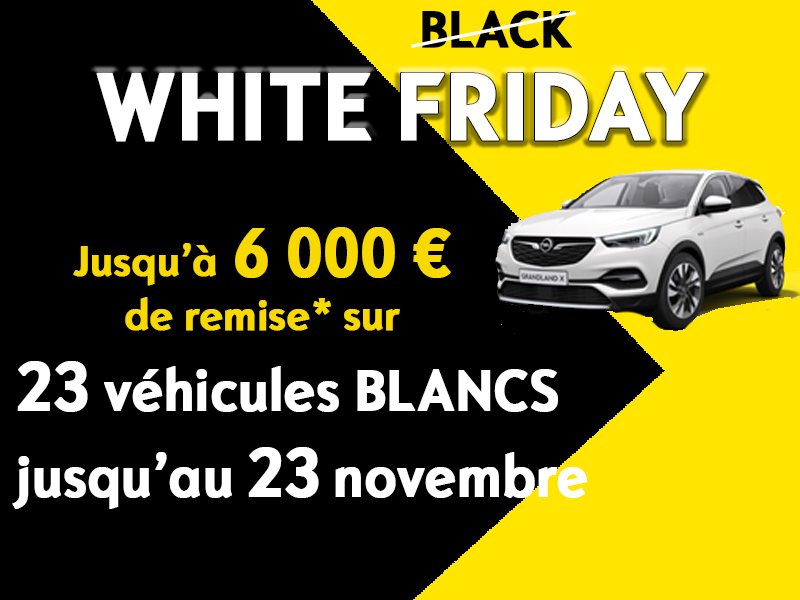 WHITE FRIDAY chez Opel BREST